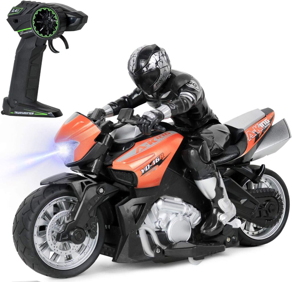 High Speed RC Remote Control Racing Bike with Light