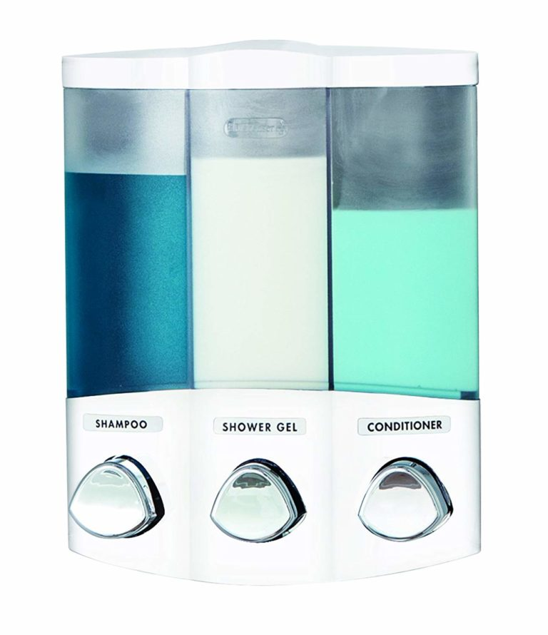 Better Living Products 76354 Euro Series TRIO 3-Chamber Soap and Shower Dispenser