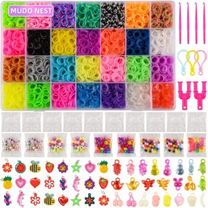 11,860+ Rubber Bands Refill Loom Set: 11,000 Premium Rubber Loom Bands 42 Unique Colors