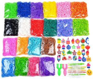9200+ Rainbow Rubber Bands Refill Set Include: 8400+ Premium Quality Loom Bands in VICOVI