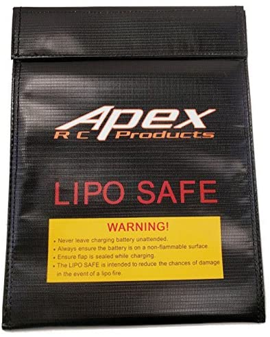 JUMBO Fire Resistant Lipo Battery Bag for Safe Charging & Storage