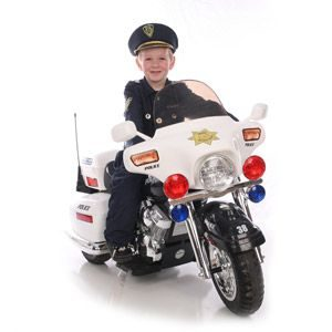 Kid Motorz Police Motorcycle 12-Volt Battery-Powered Ride-On