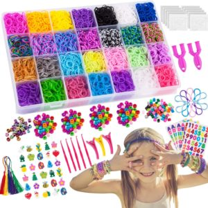 VENSEEN 11900+ Rainbow Rubber Bands Bracelet Making Kit, 11000 Loom Bands