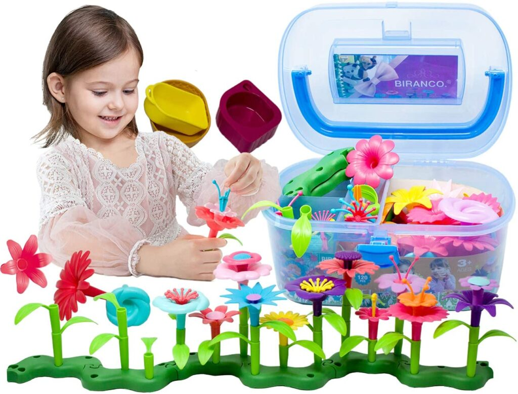 Biranco flower garden building toys