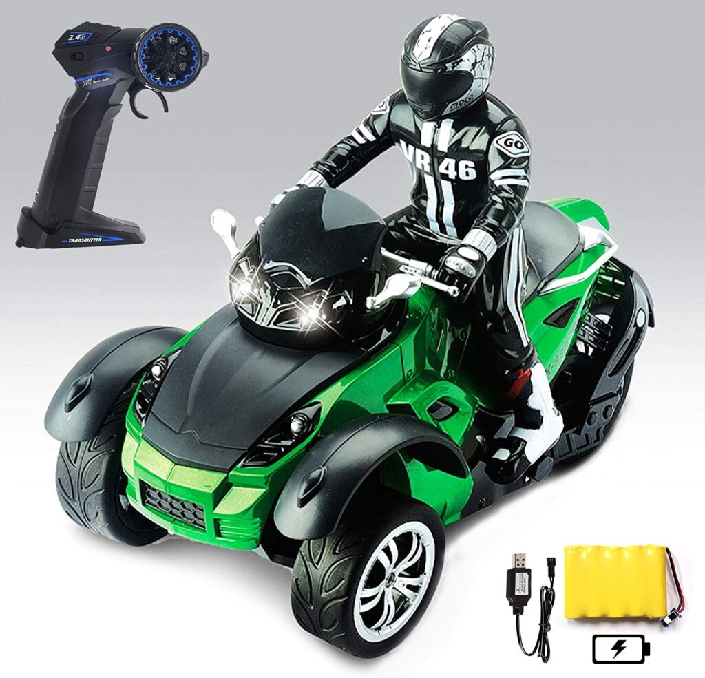 Haktoys Three Wheel ATV RC Remote Control Roadster Motorcycle